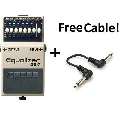 BRAND NEW Boss GE-7 Equalizer Guitar Effect Pedal plus free Patch cable