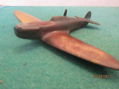Brass Metal 'Aircraft 'Spitfire' (Wingspan 6 inches)