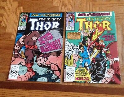 Thor #411 and #412 1st Cameo and full appearance of New Warriors VF/NM