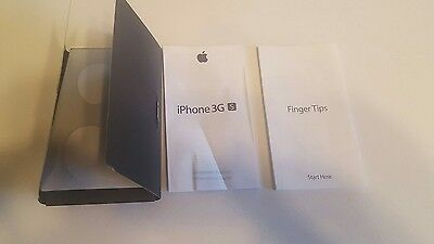 Imformation Guide & Fingertips Stickers only 4 Apple iPhone 3GS 8GB no phone inc
