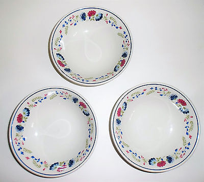 3 x British Home Stores BHS Priory Cereal or Soup Bowls