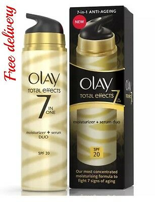 Olay Total Effects 7-in-1 Moisturiser + Serum Duo SPF20 - 40 ml.