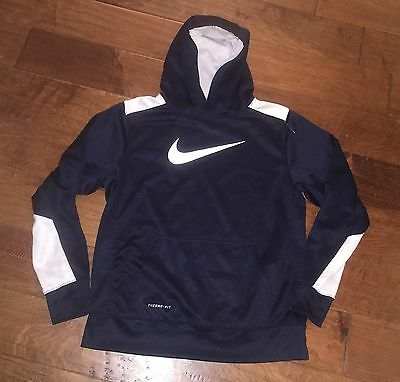 Youth Nike Therma Fit Hoodie Sweatshirt Size XL 18-20 Navy Blue