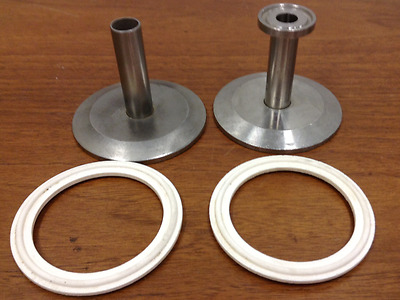 Stainless Steel Fittings - Tri-Clamp Connections - Lot of Two (2)