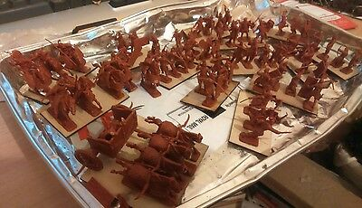 VINTAGE 20mm  lot 1/72 UN-PAINTED BASED ANCIENT Zvesda persian lot