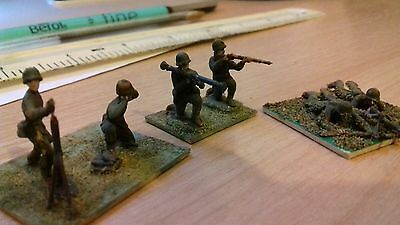VINTAGE ESCI 1/72 20mm WW2 AMERICAN MMG MORTAR SECTION PAINTED BASED INFANTRY