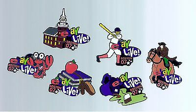 5 Different 2007 eBay Live Boston Pins Finenal Hall Baseball Tea Party Revere