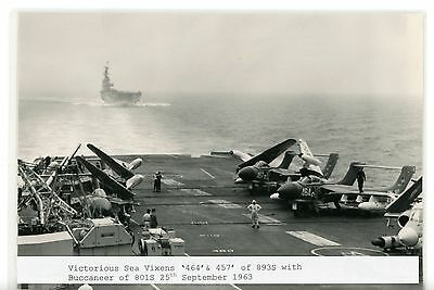 Royal Navy, Original Photo, HMS Victorious, R38, 1963, Aircraft Carrier, Vixens