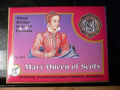 Mary Queen of Scots Vintage Piatnik Playing Cards ~ Unused Boxed 1989 ~ Rare