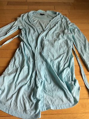 Motherhood Maternity Oh Baby Nursing Robe Only Large Light Blue Cute ��