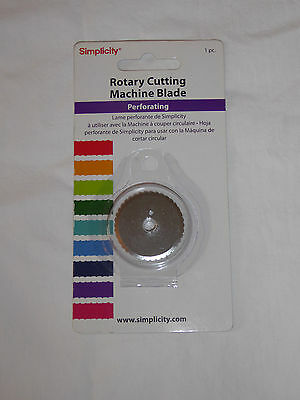 Simplicity Rotary Cutting Machine Blade - Perforating - New