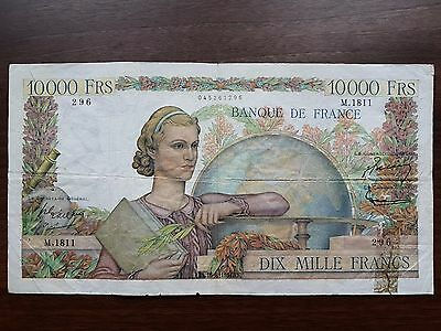 France 10000 francs 1951 first edition banknote
