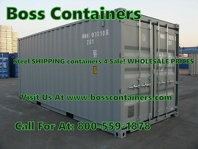 VERY cheap PRICES for STEEL shipping CONTAINERS! At Albany/ New York
