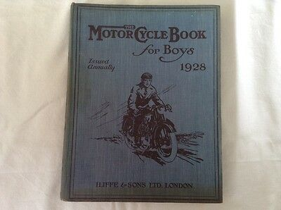 'The  Motor Cycle Book for Boys 1928' - Very Rare Antique Book