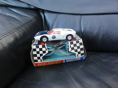 Vintage Scalextric C77 Ford Gt In White. Made In Hong Kong