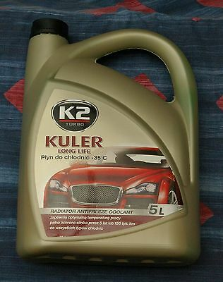 5L Kuler K2 Concentrated Universal Green Antifreeze CAR VAN 5L
