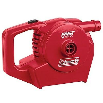 New Coleman Quickpump Rechargeable 12V And 240V Low Pressure Air Pump
