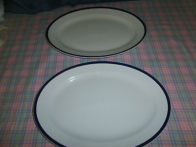 "Vintage myott pair of oval large serving plates / platters 15.5"" x 11.5"""
