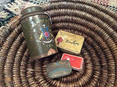 Vintage Advertising Tins Collection Of 4 Items