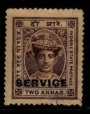 India Feudatory Indore 1905 SG54 2a Brown Service Official  MNH No Gum