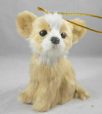Plush Chihuahua Puppy Dog Christmas Tree Ornament new holiday