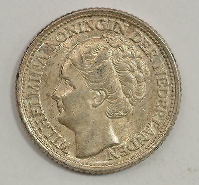 1944 Netherlands 10 Cents Silver Foreign Coin *Q87