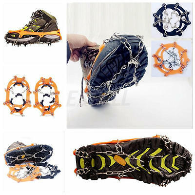 1 Pair Anti Slip Snow Ice Climbing Spikes Grips Crampon Cleat Shoes Cover Hiking