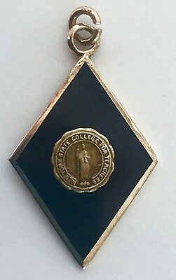 Vintage New York State College for Teachers Gold Filled over Sterling Charm