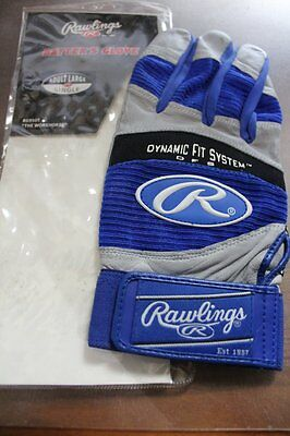 "NWT Adult RAWLINGS ""THE WORKHORSE"" Single LEFT HAND Baseball BATTING GLOVE Large"