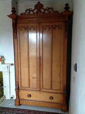 Monster High Antique Victorian Possibly French Gentlemans Linen Press Armoire