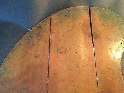 * Antique Artist's Pigment Color Paint Mixing Board small  7 1/2 x 11  1940,s