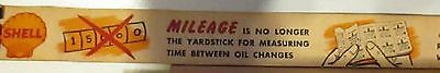 Shell Gas Station Promo World War 2 Yardstick With Wartime Driving Tips