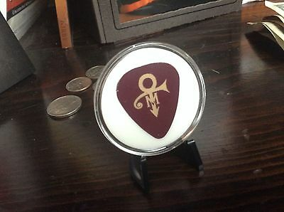 Prince and Mayte Guitar Pick from Wedding with Stand RARE