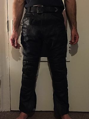 Leather Motorcycle Motorbike Trousers