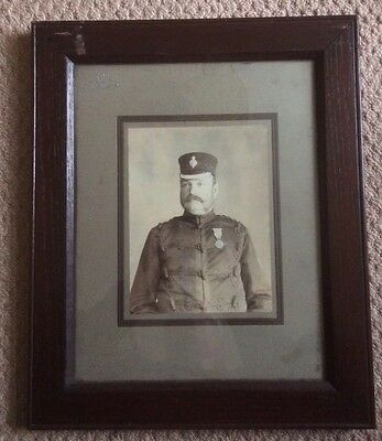 Rare Victorian Military Veteran Photo With Medal