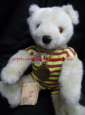 "LITTLE FOLK  ~handmade in England  ""BEAR OURS""  tagged, plush fur, stitched nose"