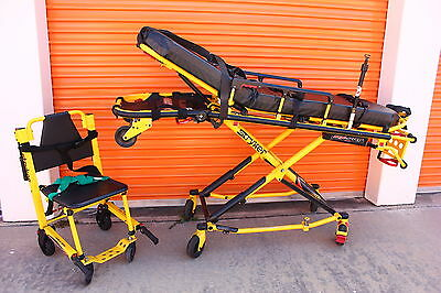 Stryker MX-Pro 650lb Ambulance Stretcher w/ Stair Chair EMS Gurney Cot Power Pro
