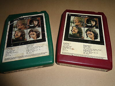 THE BEATLES  LET IT BE  2x 8 TRACK TAPES ORIGINAL EMI