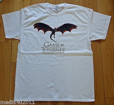 Game Of Thrones Got Hbo Drogon Dragon Rare Large Collector's Promo T Shirt New