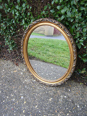 Vintage Antique Style Beautiful Oval Gilt Wall Mirror Good Price!
