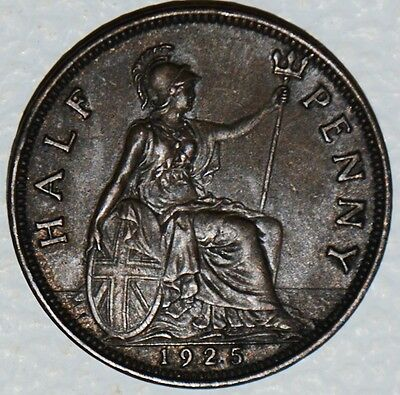 Great Britain 1/2 Penny 1925 1/2 d UK Uncirculated