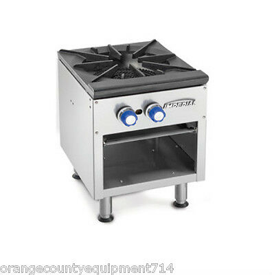 """NEW 18"""" Single Stock Pot Range Gas Imperial ISPA-18 #4579 Commercial Stove NSF"""