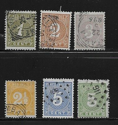 Netherlands Indies 1883 Numerals  USED