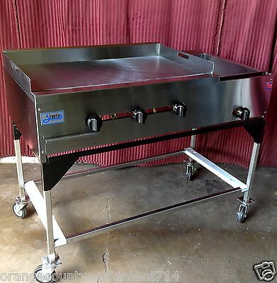 """NEW 48"""" Taco Cart Griddle & Steam Table Propane #1234 Portable Planchas Catering"""