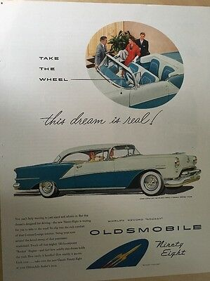 Original Vintage Oldsmobile Ninety-Eight Deluxe Holiday Coupe