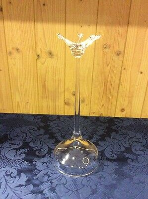 Beautiful Dartington England 24% Lead Crystal Ring/Necklace Tree Stand