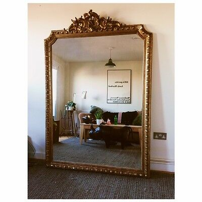 Large Antique French Gilt Mirror