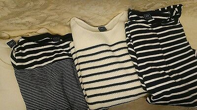 Gap Me Lot 4 Shirts Tops Sweaters 2 L Large 2 M Medium Blue White Baby