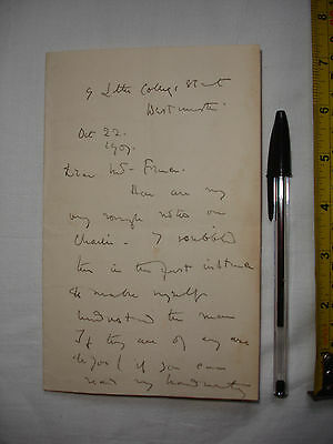 """Used theatrical letter dated 1907 ? to """"Mr France"""", signed Eve Anstruther ?(#S)"""