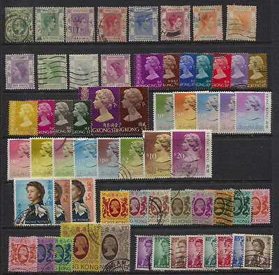 Hong Kong EDVII - 1991 QEII Used Mostly Definitive Collection Minumum CV $78